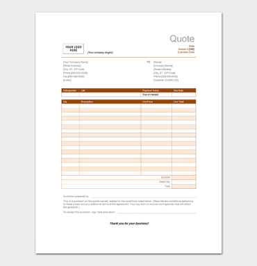 quote templates free quotation template for word excel