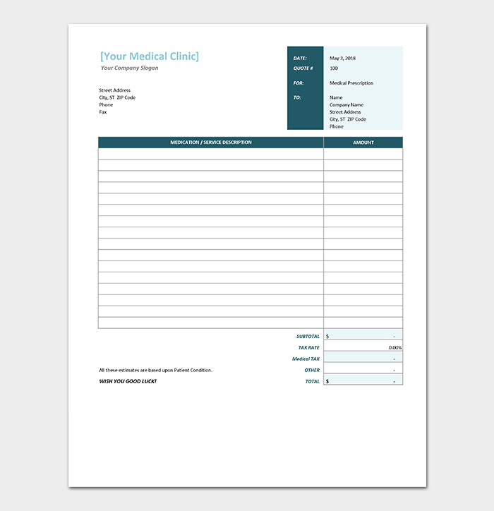 personal health journal template