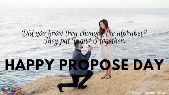 Happy Propose Day Quotes, Status, Messages, Greetings SMS & Images In English on 2018