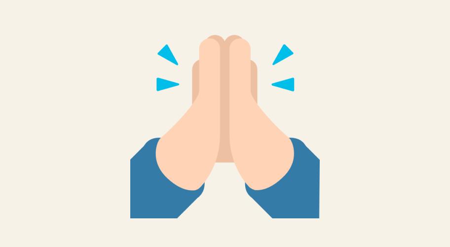 Folded Hands Emoji 1