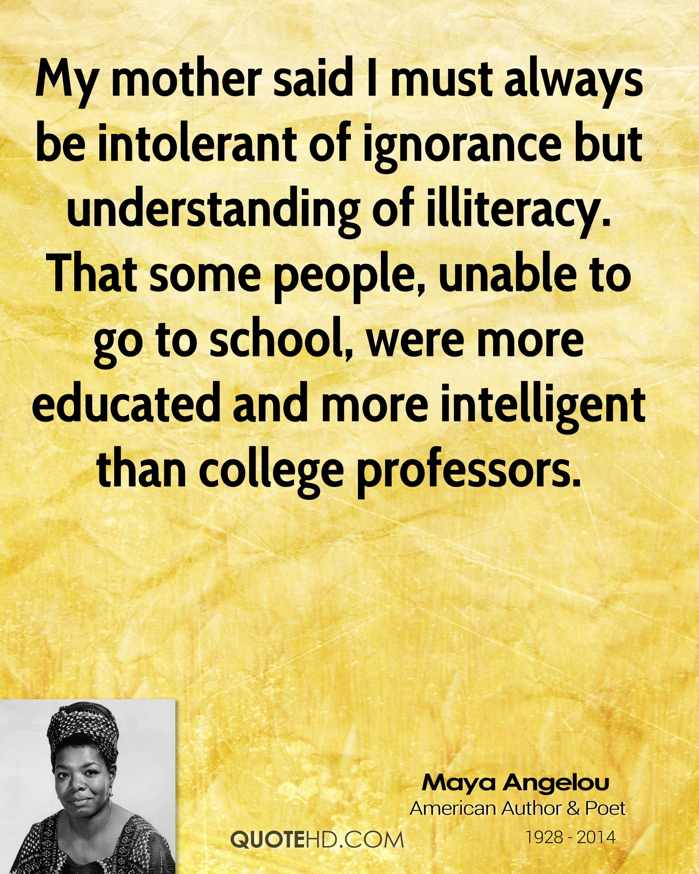 Education Quotes By Maya Angelou Quotesgram