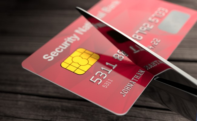 Credit Card Cut By Scissors Free Image Download