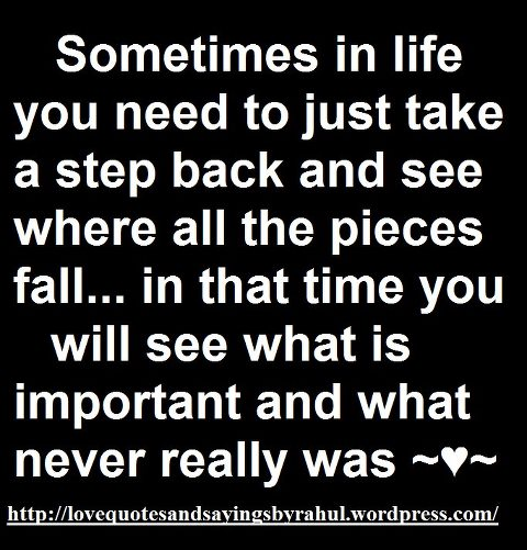 Quotes About Stepping Back 67 Quotes