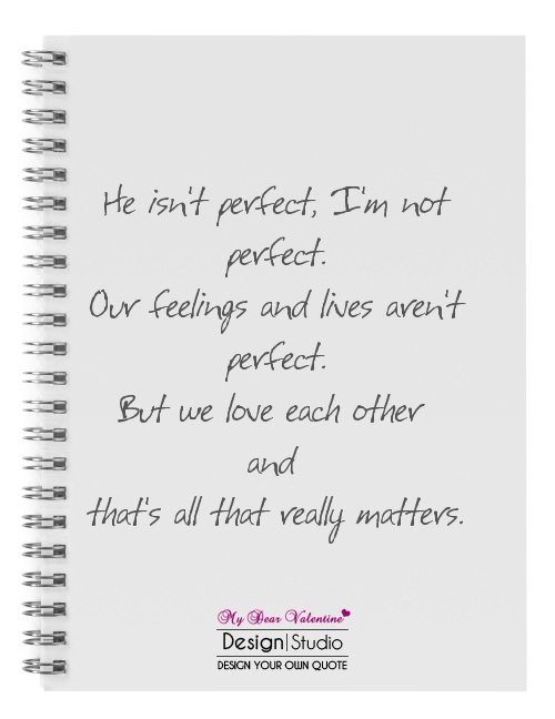 Perfect not you quotes re 40 Imperfection