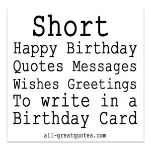 Quotes about Short messages (27 quotes)