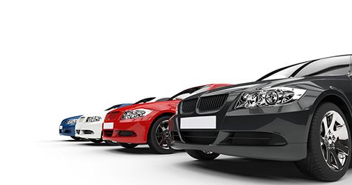 A row of premium cars