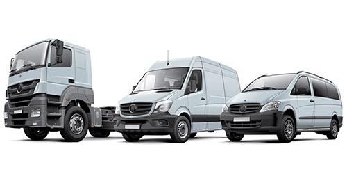 Fleet Insurance represented by a mixed fleet of vehicles