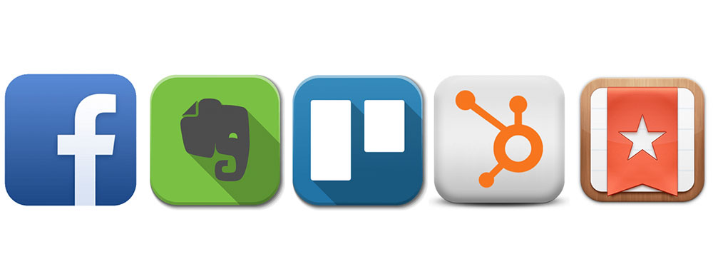 A row of 5 app icons