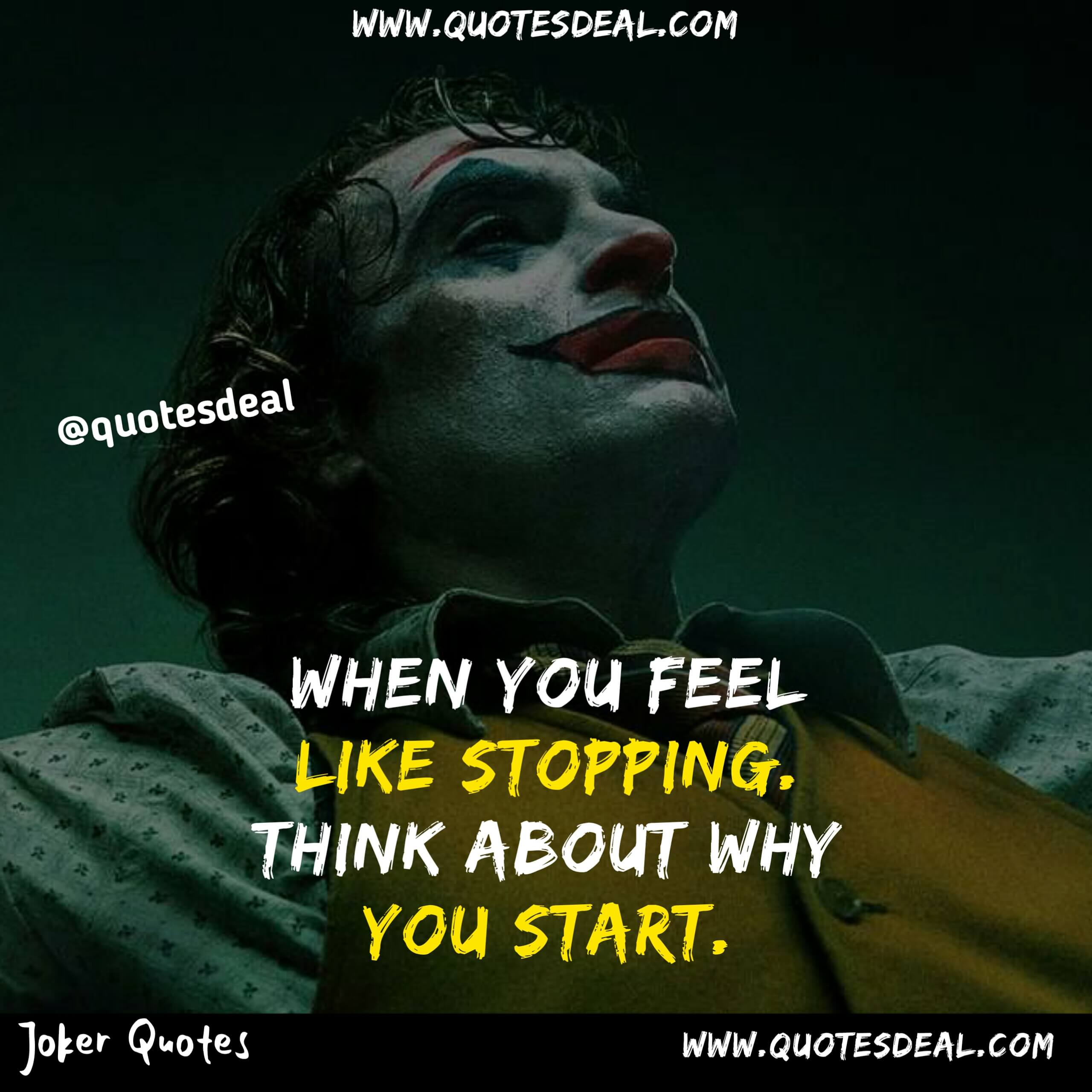 When you feel like stopping