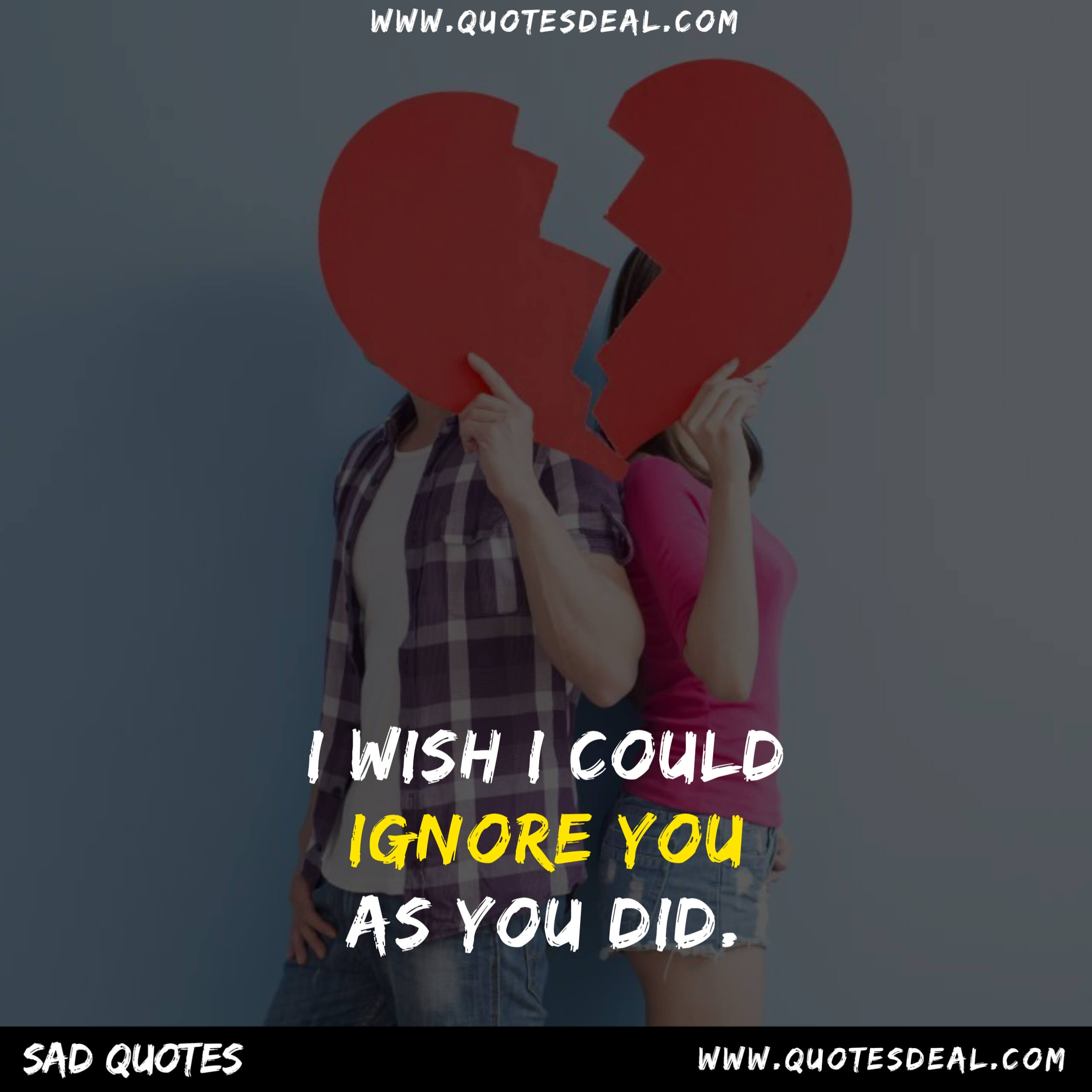 ignore you as you did