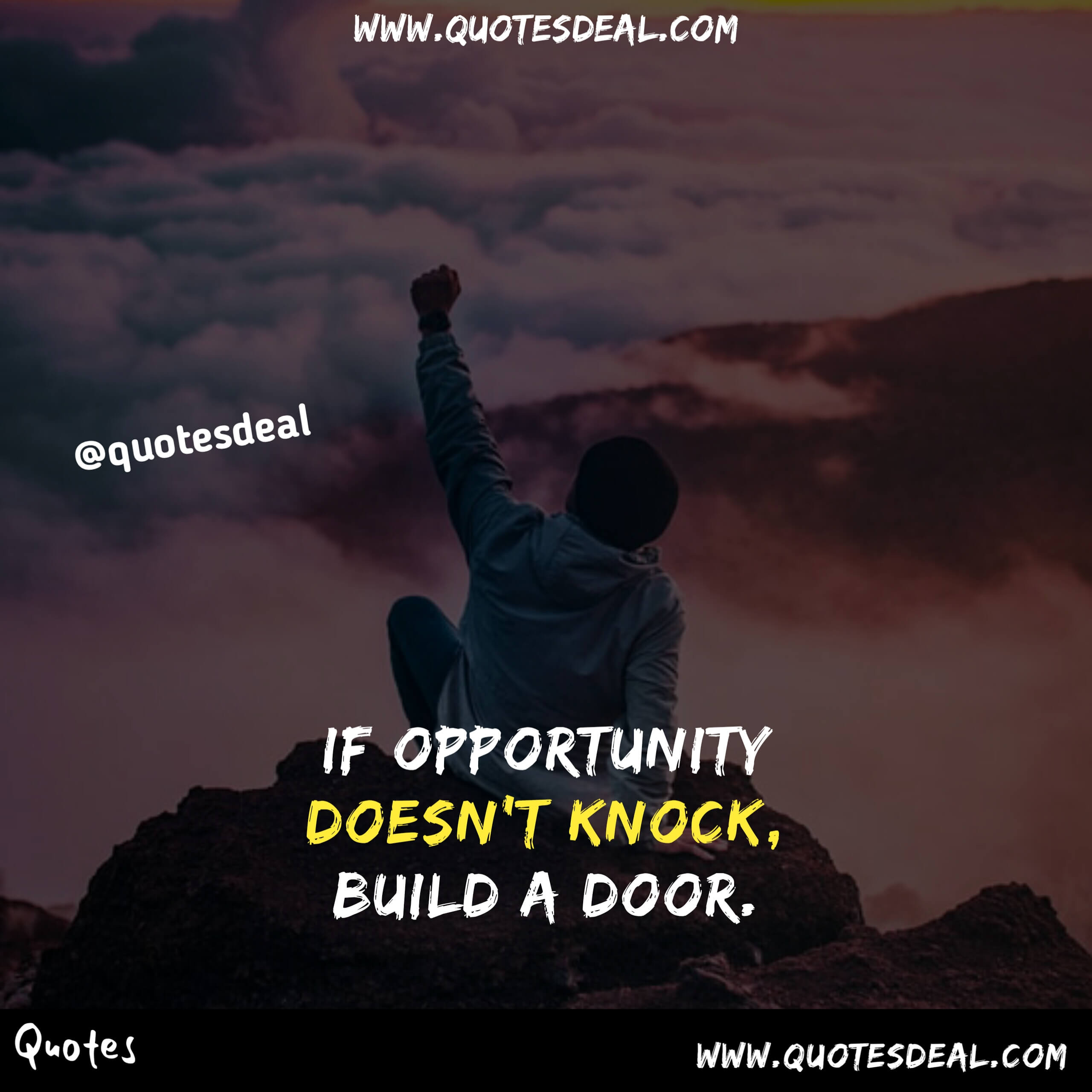 If opportunity