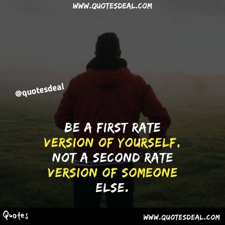 first rate version of yourself