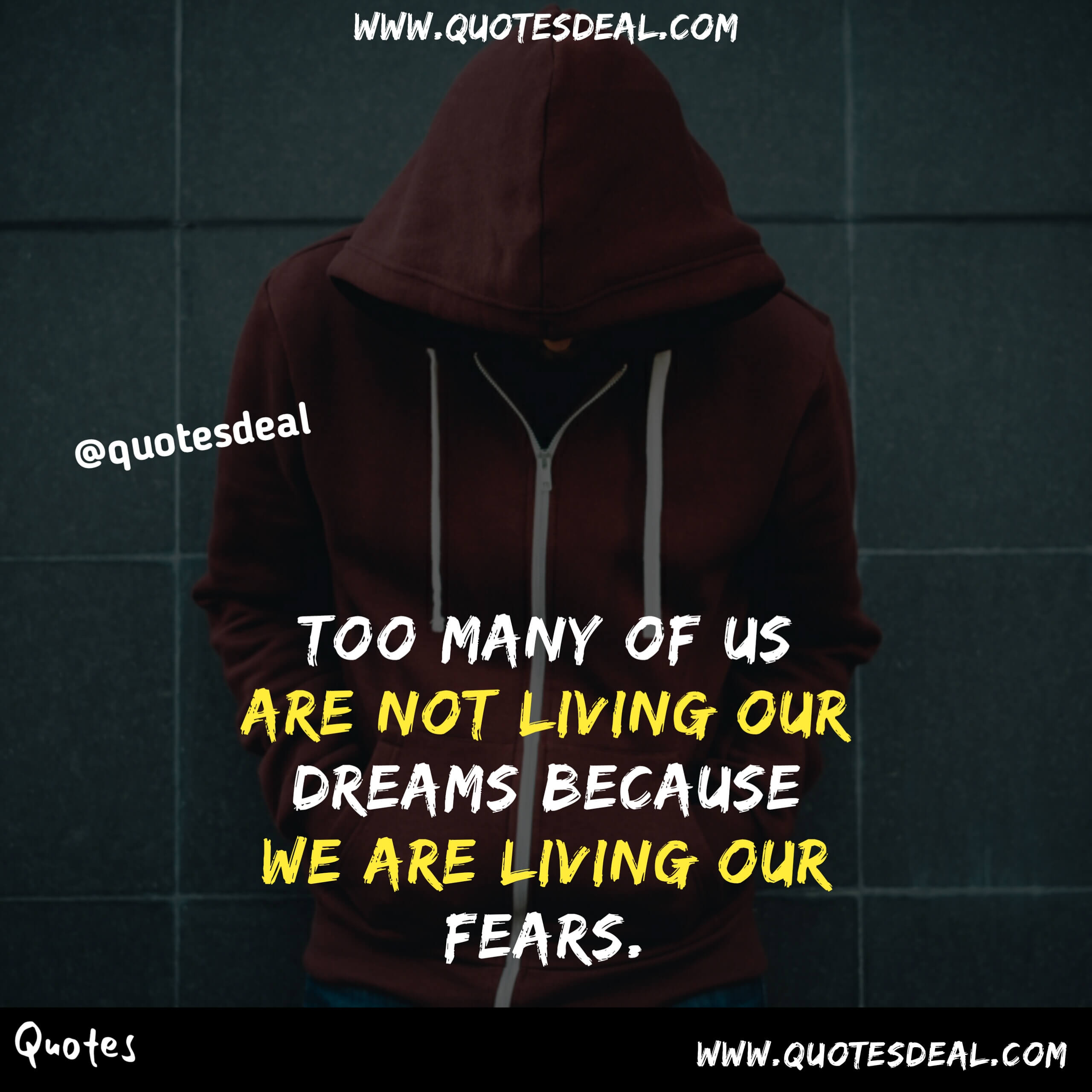 we are living our fears