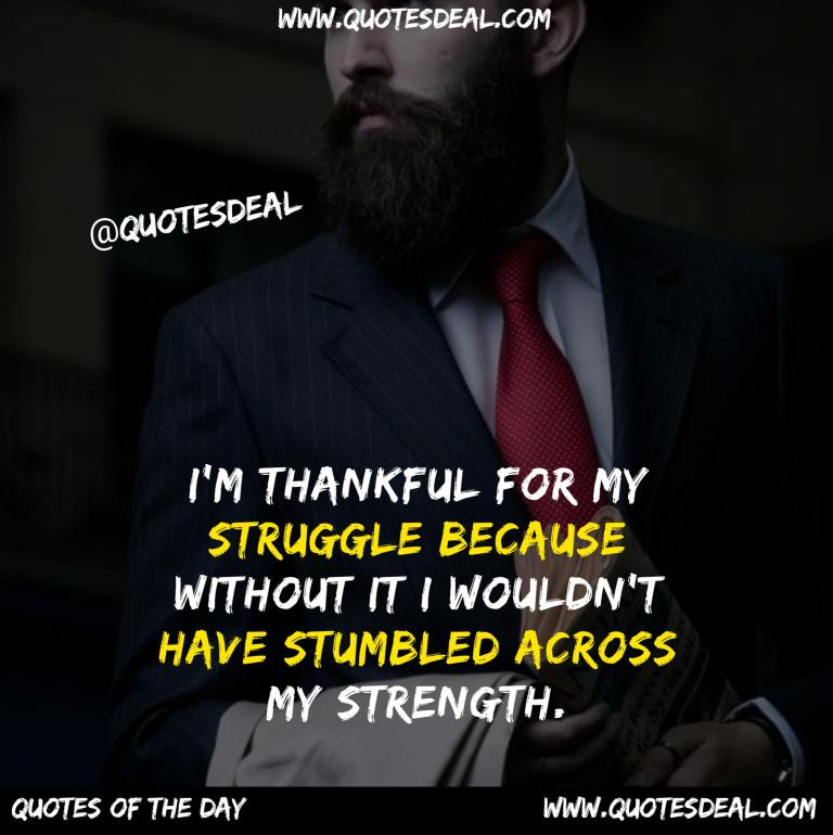 thankful for my struggle
