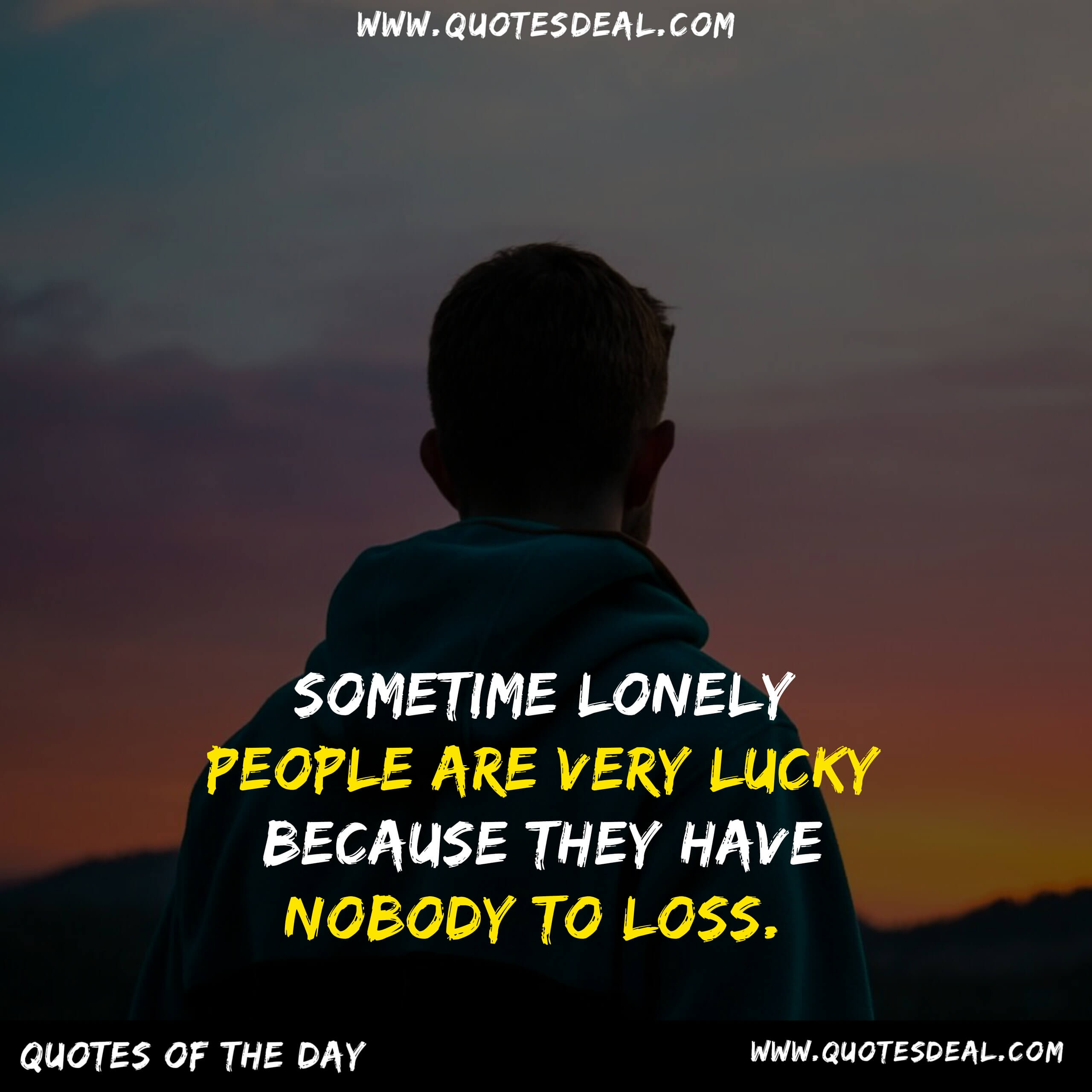 Sometime lonely people