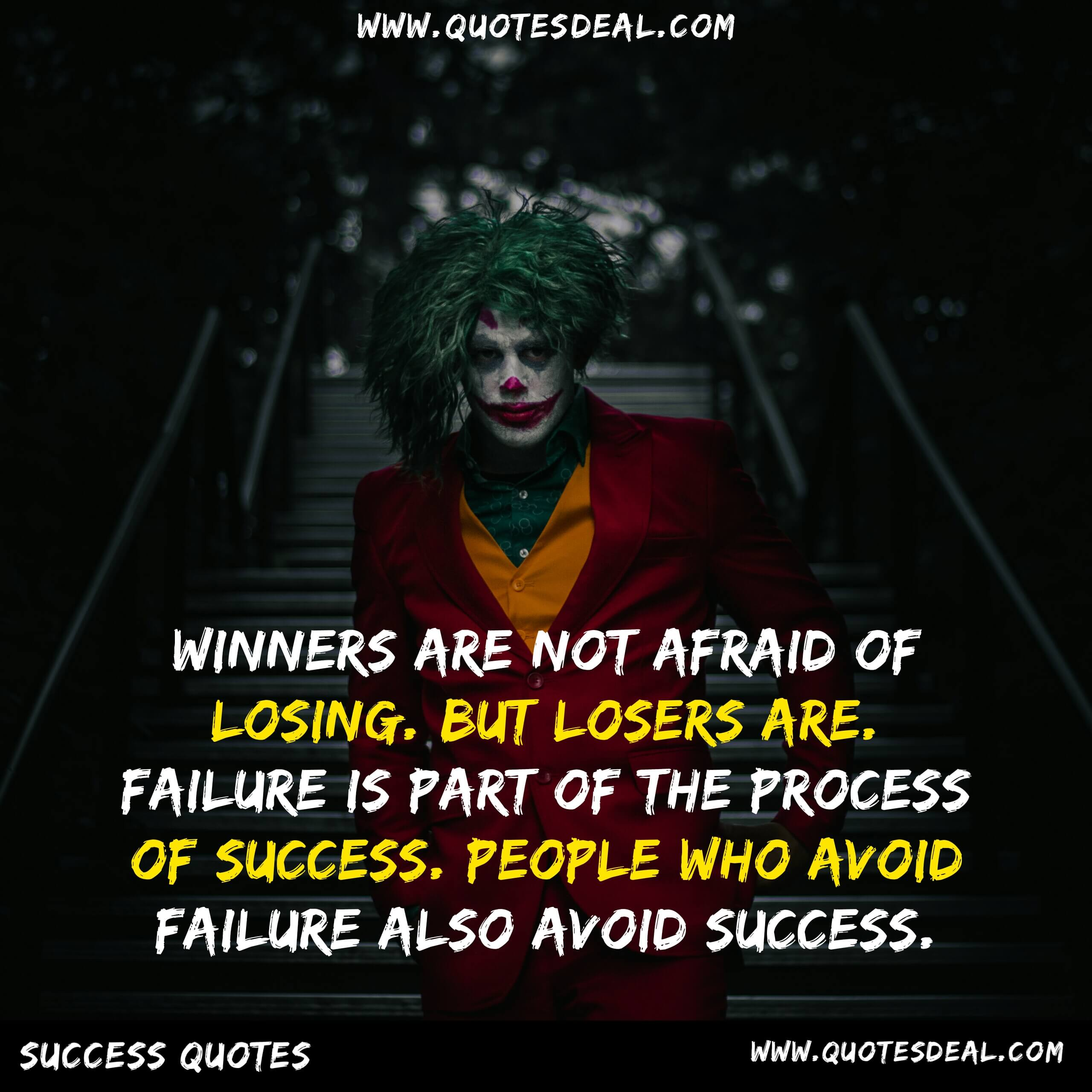 Winners are not afraid