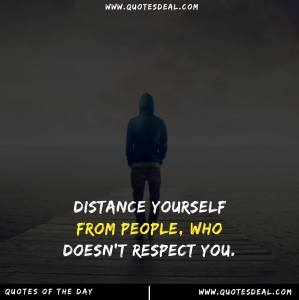 Distance yourself from people