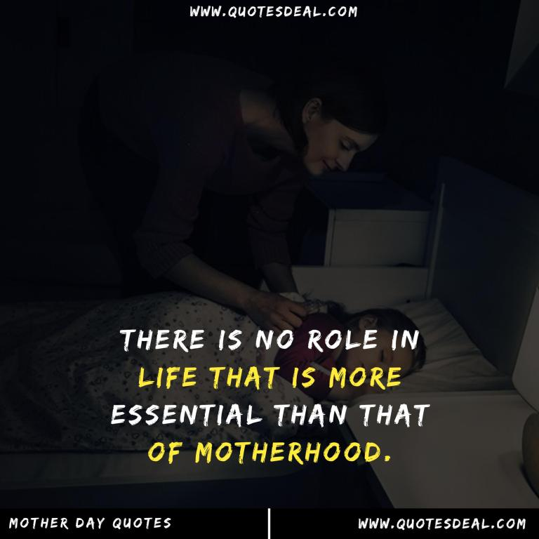 There is no role in life