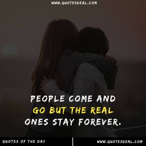 People come and go