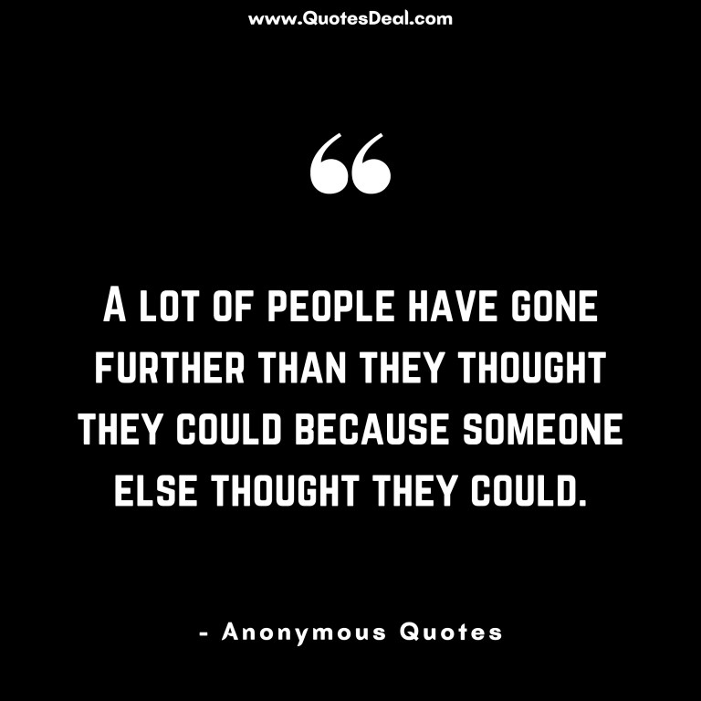 A lot of people have gone