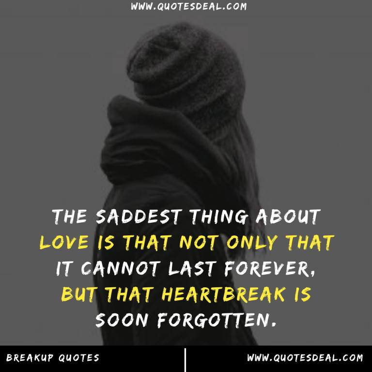 The saddest thing about love