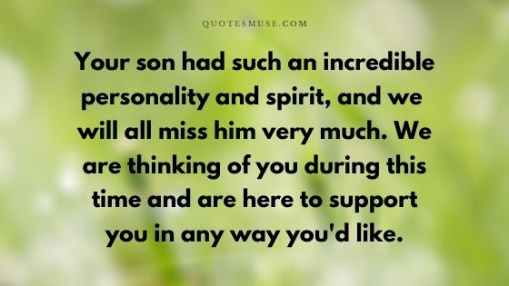40 Words of Sympathy for the Loss of A Grown Son