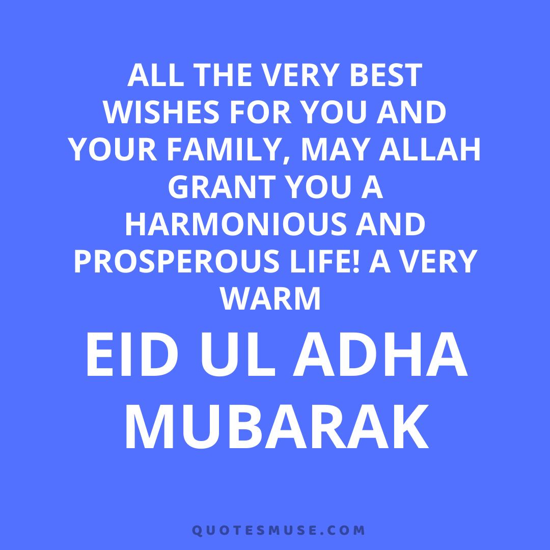 40 Eid Al Adha Eid Mubarak Wishes, Messages, Quotes