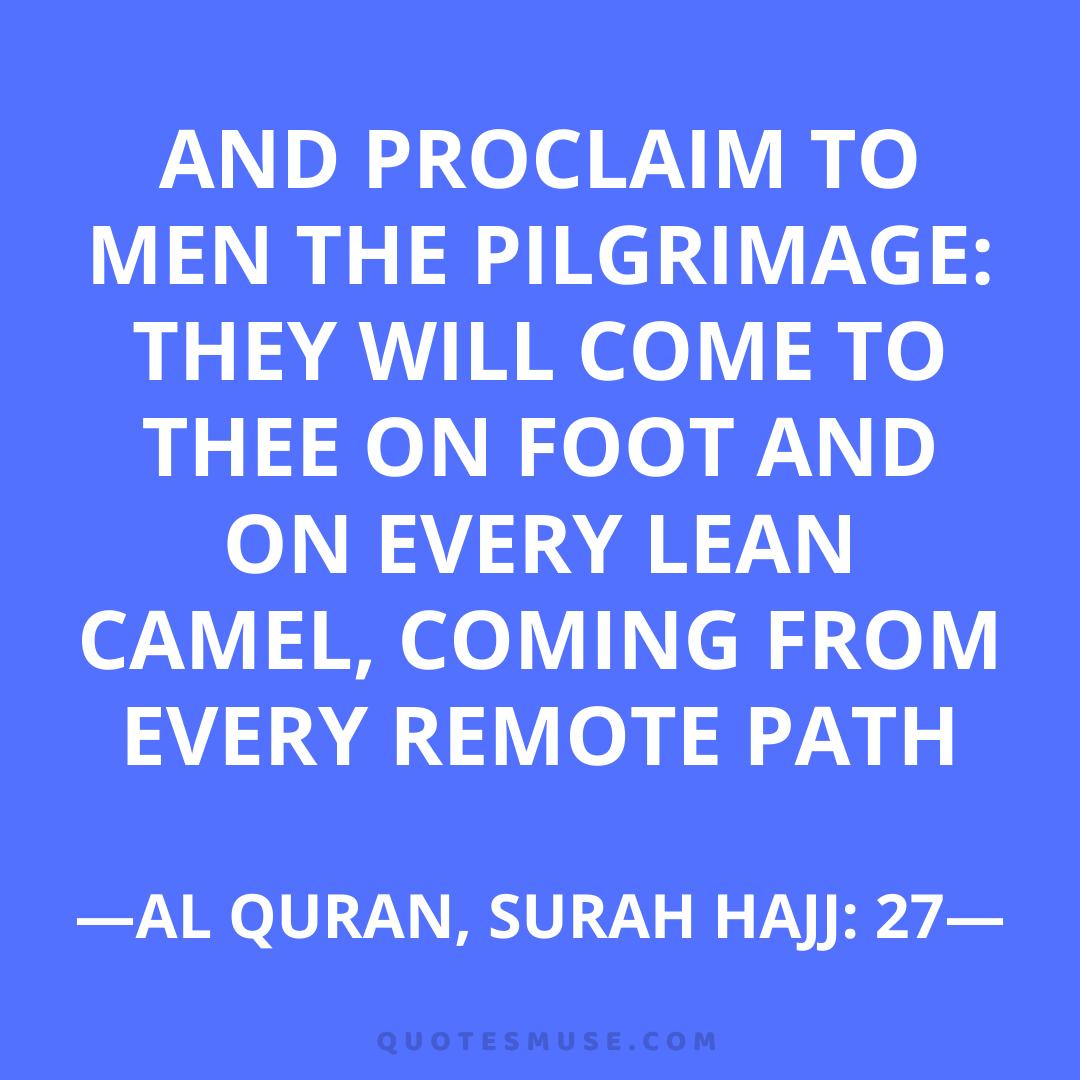 99 Hajj Mubarak Umrah Quotes Messages Wishes Status