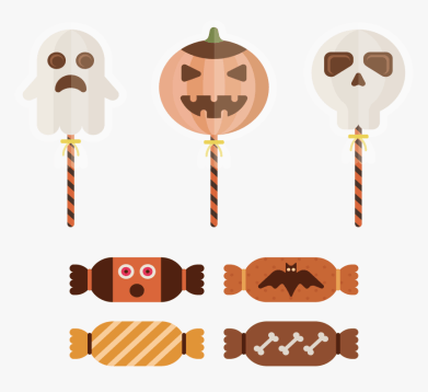 New Halloween candy clipart