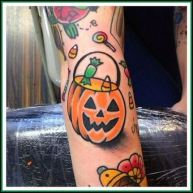 Halloween Candy Tattoo 2021 images