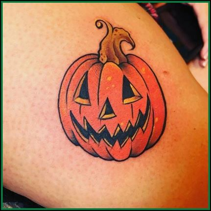Traditional Pumpkin Tattoo Designs 2021 images