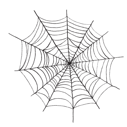 Spider Halloween black and white clipart