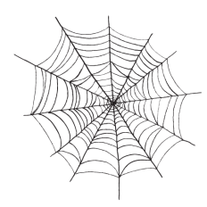 latest Halloween black and white clipart