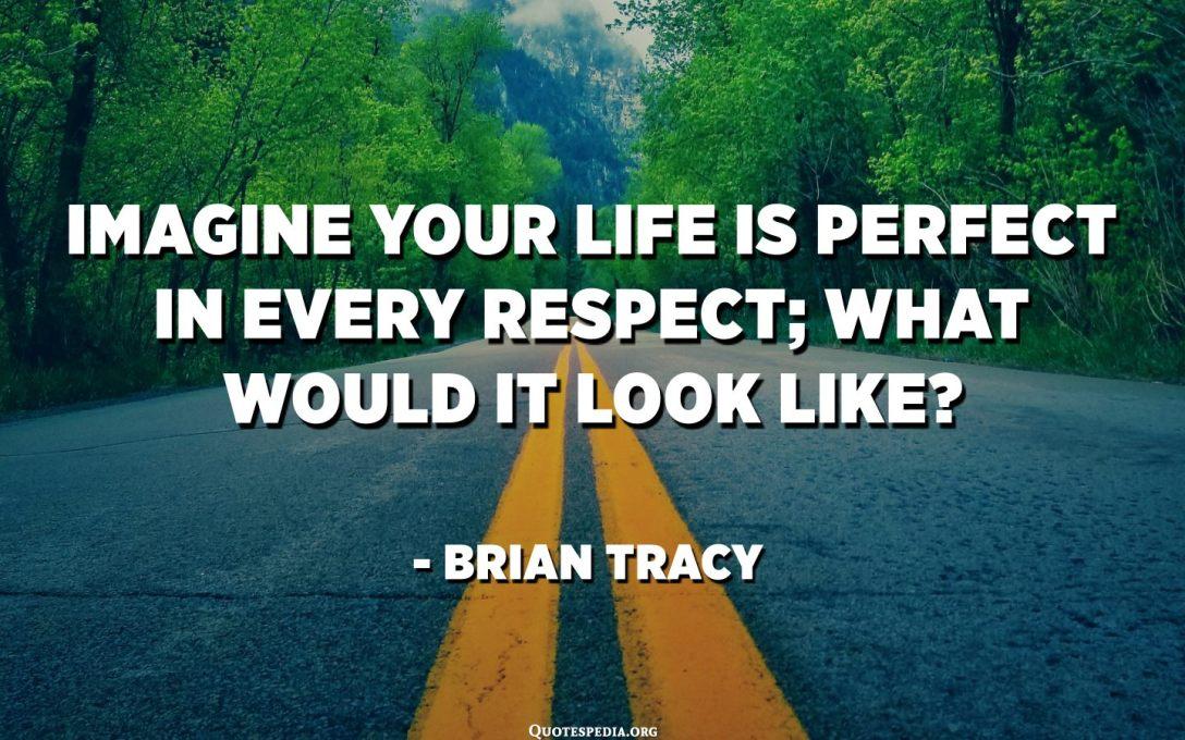 تخيل أن حياتك مثالية من جميع النواحي ؛ كيف ستبدو؟ - براين تريسي