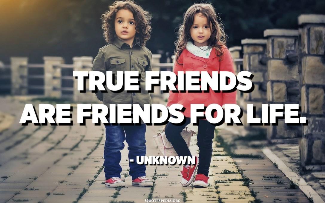 Els veritables amics són amics de tota la vida. - Desconegut