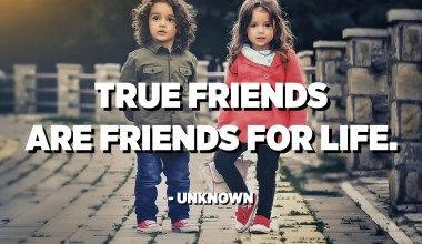 True friends are friends for life. - Unknown