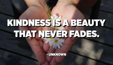 L'amabilitat és una bellesa que no s'esvaeix mai. - Desconegut