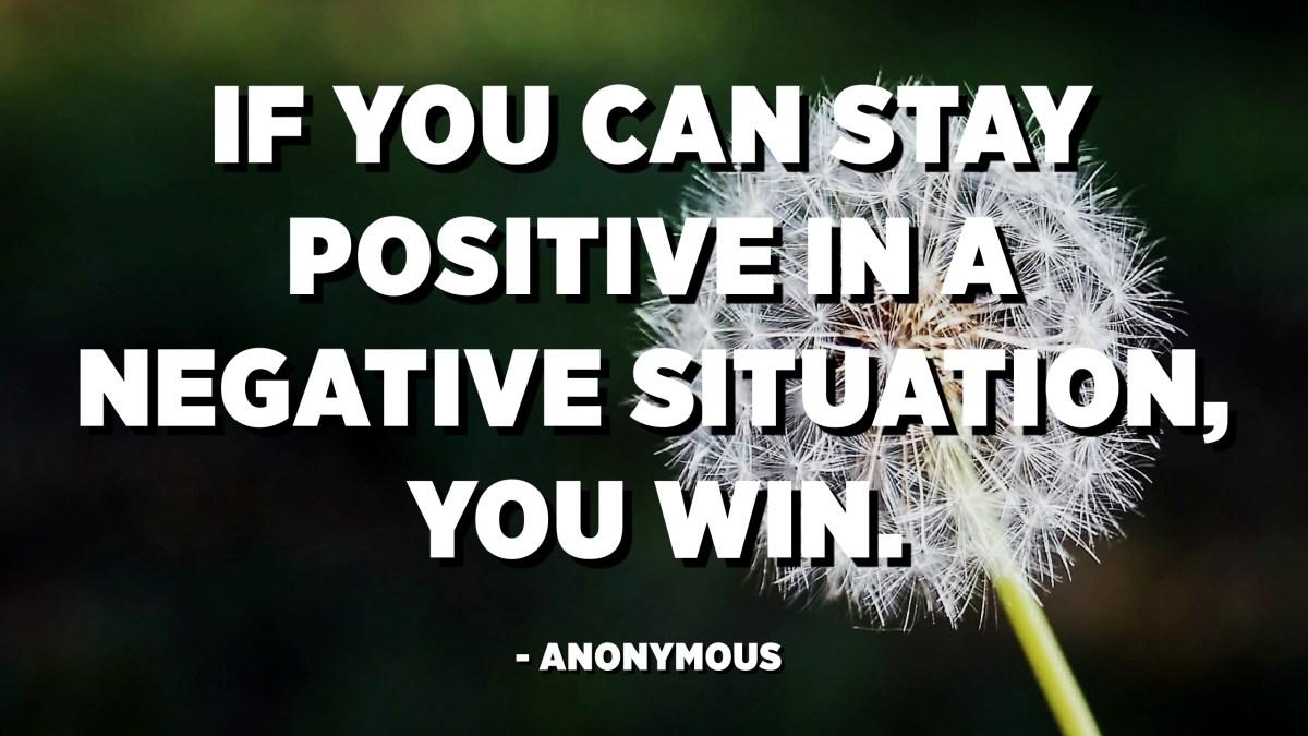 意味 Stay positive