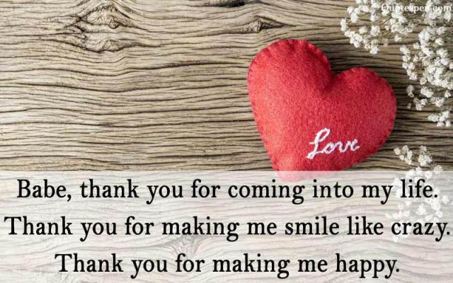 thank you for coming into my life - love quote for husband