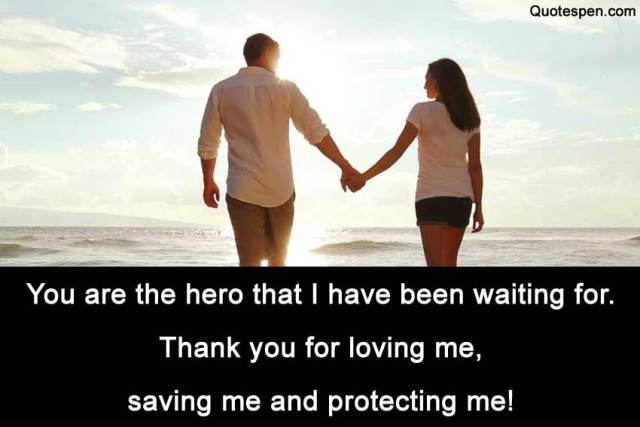you are the hero-quote for him