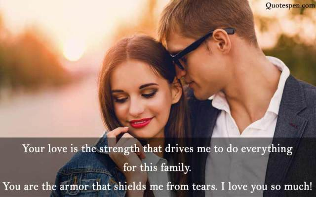 your love is the strength - husband love quote