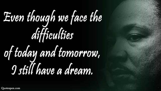we face the difficulties-mlk-quotes