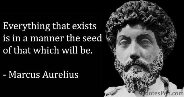 everything-exists-Marcus Aurelius Quote