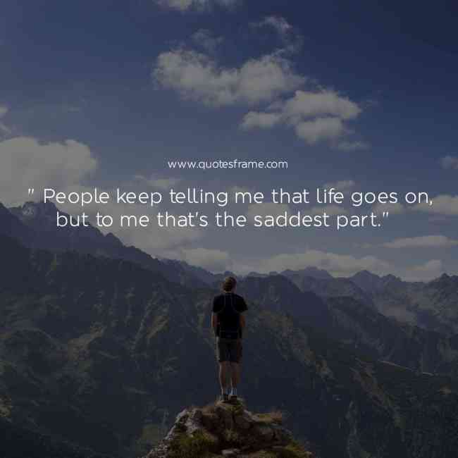 best sad quotes about life