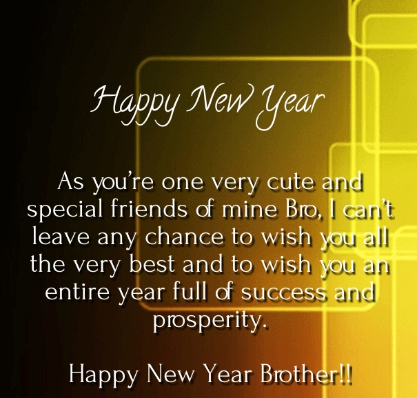 40 Best New Year 2019 Wishes For Brother With Images