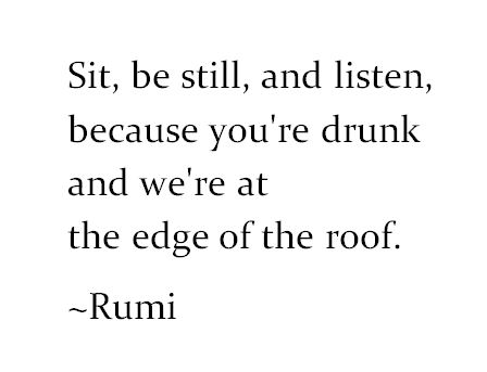 Image result for rumi you are drunk
