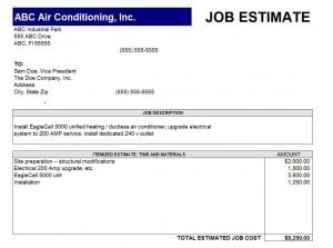 3 Free Job Estimate Templates Free Quotation Templates Estimate