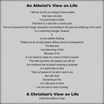 atheist vs. christian