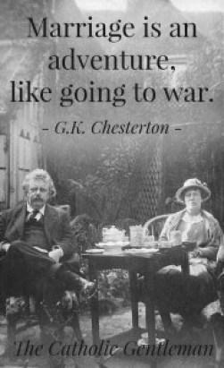 chersterton mariage