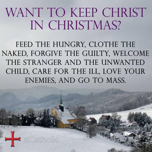 keep christ in mas